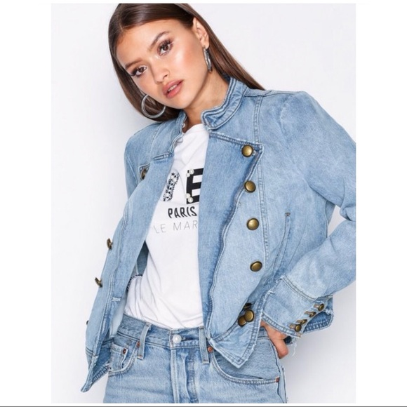 89b5c4f79b5 Free People Ferry Military Denim Jacket